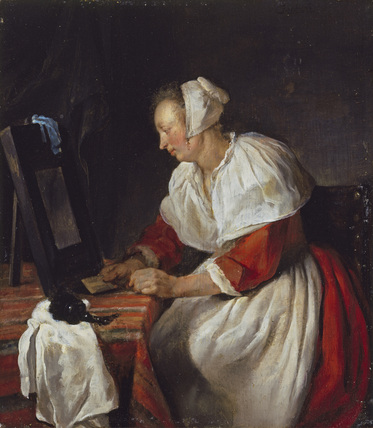 A Woman at her Mirror