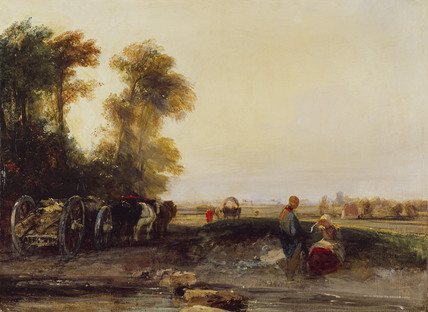 Landscape with Timber Waggon