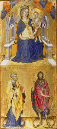 The Virgin and Child in Majesty with Saints Peter and John the Baptist
