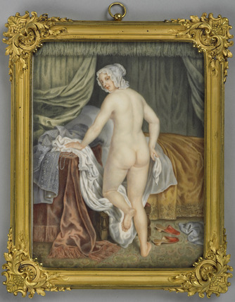 A Lady going to bed, after J. Van Loo