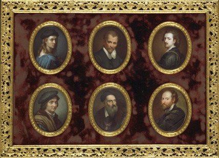 Six Artists: Raphael, Annibale Carracci, Van Dyck, Andrea del Sarto, Titian and Rubens