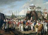 The Reception of the Mysorean Hostage Princes by Marquis Cornwallis', 26 February 1792