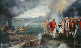 General Eliott and his Officers observing the destruction of the Floating Batteries, Gibraltar, 14 September 1782