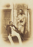 Major-General Robert Napier and Major E H Greathead, Lucknow, 1857