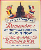 'Men of London! Remember!', 1914