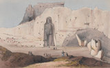 'Male Figure at Bameean 200ft high', 1842