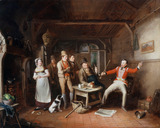 A soldier relating his exploits in a tavern, 1821