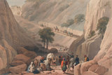 'The Troops Emerging from the Narrow Part of the Defile in the Koojah Pass', 1839