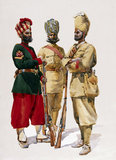 43rd Erinpura Regiment, 44th Merwara Infantry and 108th Infantry, 1910