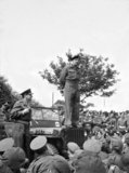 General Montgomery addressing the troops at Worthing, May 1944