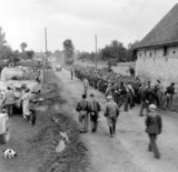 German prisoners being marched away by the French Maquis, 1944