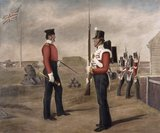 Major Egerton and sentry, 77th (The East Middlesex) Regiment of Foot, Portsmouth, 1849