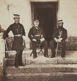 Major-General Lockyer and two of his staff, 1855