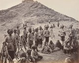 Prisoners and escort, Afghanistan, 1878
