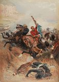 Lieutenants Melvill and Coghill saving the Colours, Zulu War, 1879