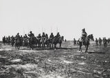 Indian Cavalry on the march in Mesopotamia, 1917 (c)