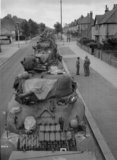 Sherman tanks of 3rd County of London Yeomanry at Worthing, 1944