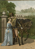 An 11th Hussar bids farewell to his lady