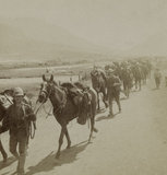 '14th Hussars leaving Maitland Camp to join Buller in the thick of hard fighting', 1900 (c).