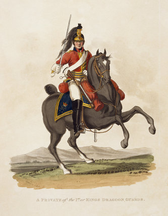 A Private of the 1st or Kings Dragoon Guards, 1812