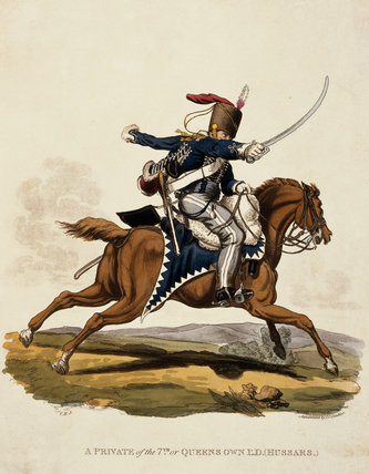 A Private of the 7th or Queens Own (Hussars), 1812