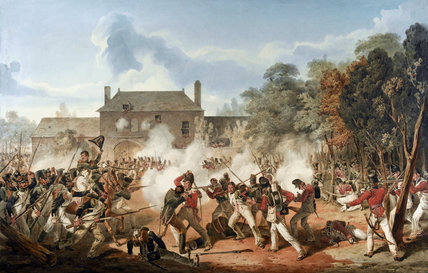 Defence of the Chateau de Hougoumont by the Coldstream Guards, Battle of Waterloo, 18 June 1815