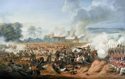 Attack on the British Squares by French Cavalry, Battle of Waterloo, 1815