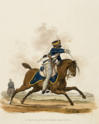 A Private of the 13th Light Dragoons, 1812