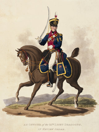 An Officer of the 9th (Light) Dragoons in Review Order, 1812