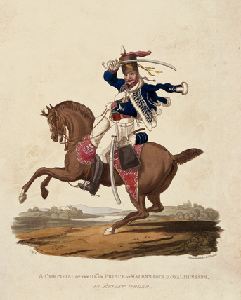 A Corporal of the 10th or Prince of Wales's Own Royal Hussars, In Review Order, 1812