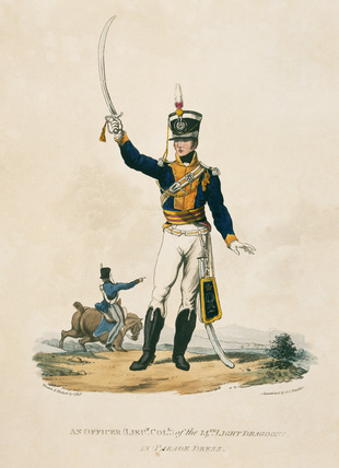 An Officer of the 14th Light Dragoons in Parade Dress, 1812