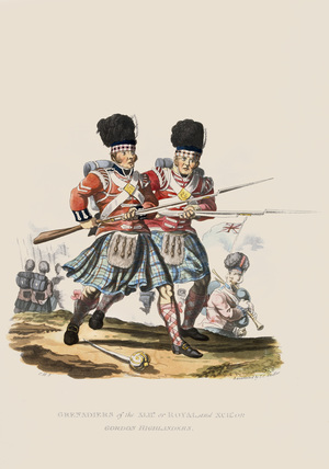 Grenadiers of the 42nd or Royal and 92nd or Gordon Highlanders, 1812