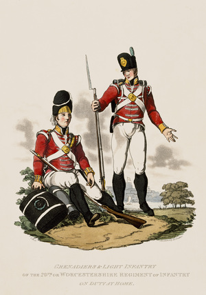 Grenadiers and Light Infantry of the 29th or Worcestershire Regiment of Infantry, 1812