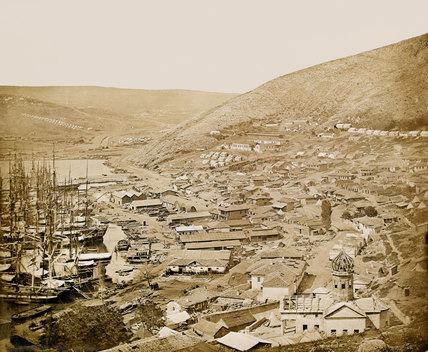 Balaklava looking north, 1855