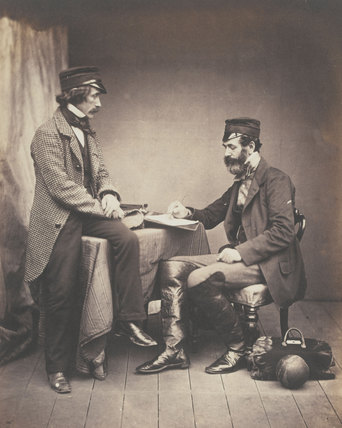 Dr Sutherland and Robert Rawlinson, 1855