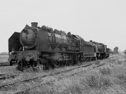 French railway engines disabled by Allied aircraft, 1944