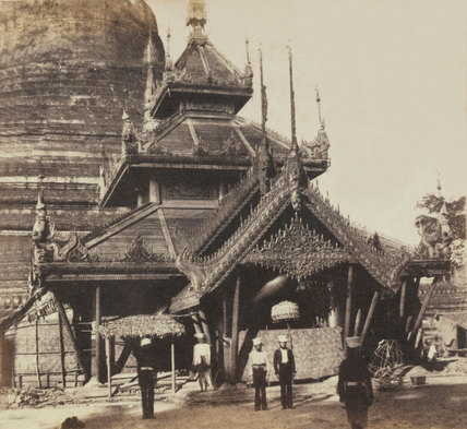 North-east view of the Great Pagoda at Prome, 1852