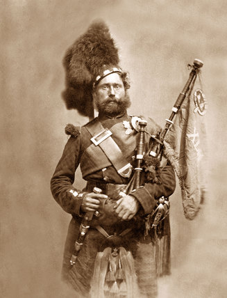 Piper David Muir, 42nd (The Royal Highland) Regiment of Foot, 1856