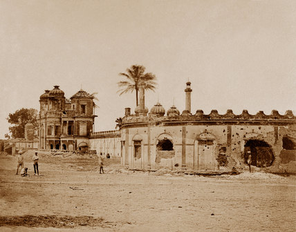 The Secundra Bagh showing the breach of gateway, 1858