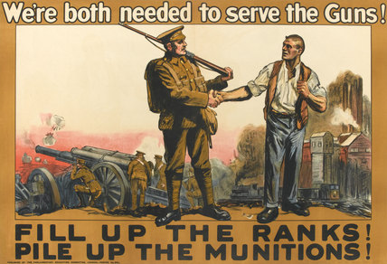 'We're both needed to serve the Guns!', 1915