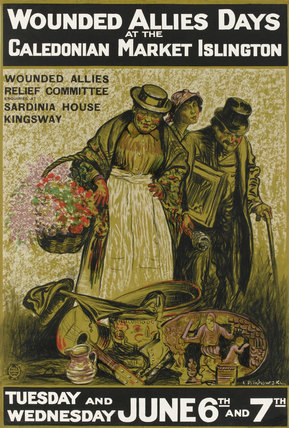 'Wounded Allies Days at the Caledonian Market Islington', 1914-1918