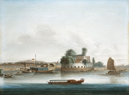 A Fort on the Canton River, 1st China War, 1840 (c)