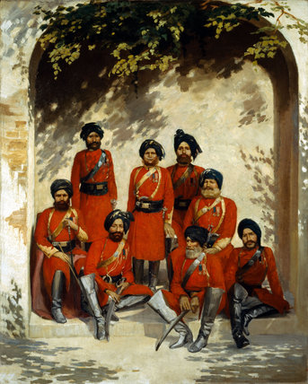 Indian Army Officers and NCOs, 2nd Regiment of Cavalry, 1863 (c)