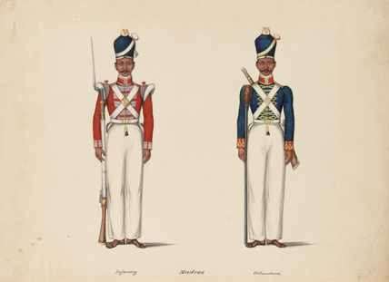 10th Madras Native Infantry and the Madras Artillery, 1835 (c)