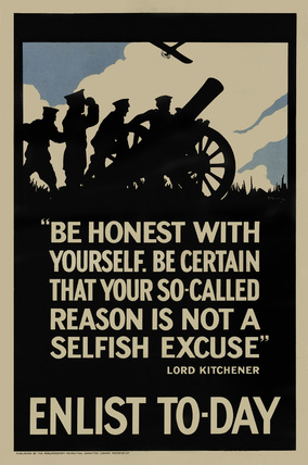 'Be honest with yourself', 1915 (c)