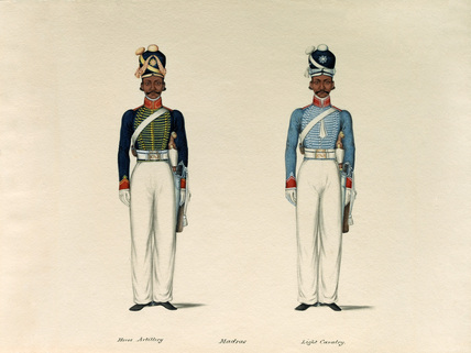 Horse Artillery and Light Cavalry, Madras Army, 1835 (c)