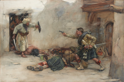 'Drummer James Roddick  hand-to-hand fighting in Kandahar', 1880