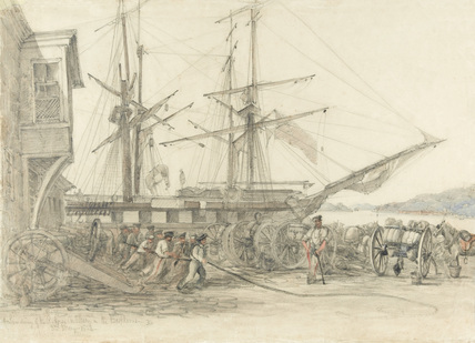 'Landing of the R. Horse Artillery on the Bosphorus', 1854