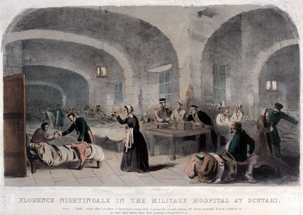 Florence Nightingale in the Military Hospital at Scutari, 1855 (c)