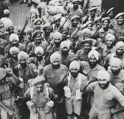 Indian soldiers of PAIFORCE, 1946